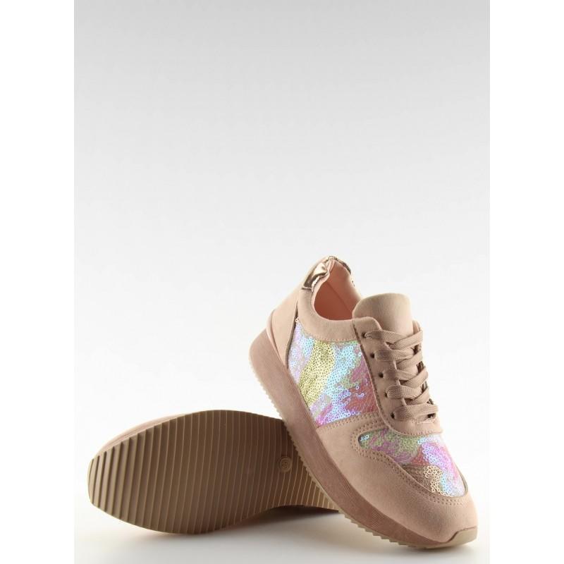 Vzorované dámské sportovní boty růžové barvy na hrubé podrážce  Vzorované dámské  sportovní boty růžové ... 691ef7c720