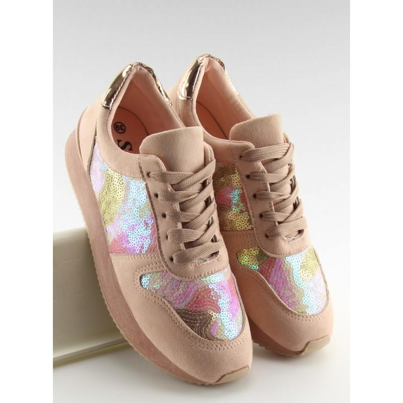 ... barvy na hrubé podrážce  Vzorované dámské sportovní boty růžové ... 72c8984b88