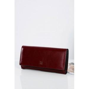 Elegantní bordó dámská peněženka se zlatým zipem uvnitř
