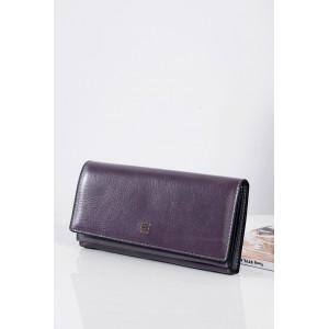 Kožená fialová dámská peněženka s ozdobou