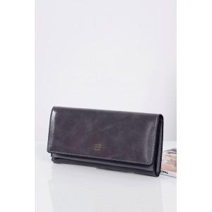 Tmavě šedé dámské peněženky s vnitřním zlatým zipem