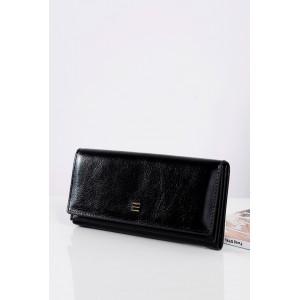 Elegantní černé kožené peněženky pro dámy