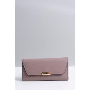 Světle fialová velká dámská peněženka se zapínáním na druk