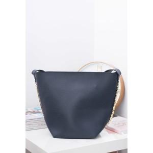 Tmavě modré dámské kabelky shopper s malou kosmetickou taštičkou