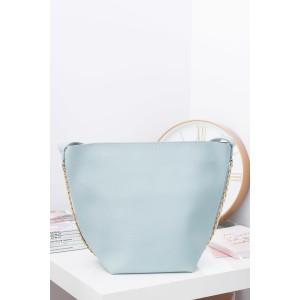 Prostorné světle modré dámské shopper kabelky s malou taštičkou uvnitř