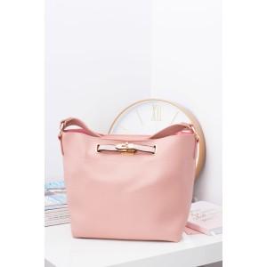 Velká růžová dámská kabelka na rameno s kosmetičkou taštičkou uvnitř