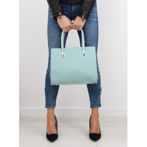 Světle modré dámské kabelky do ruky v elegantním stylu