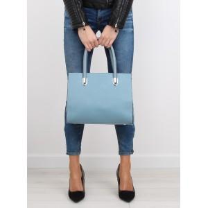 Dámská bledě modrá kabelka do ruky se dvěma řemínky