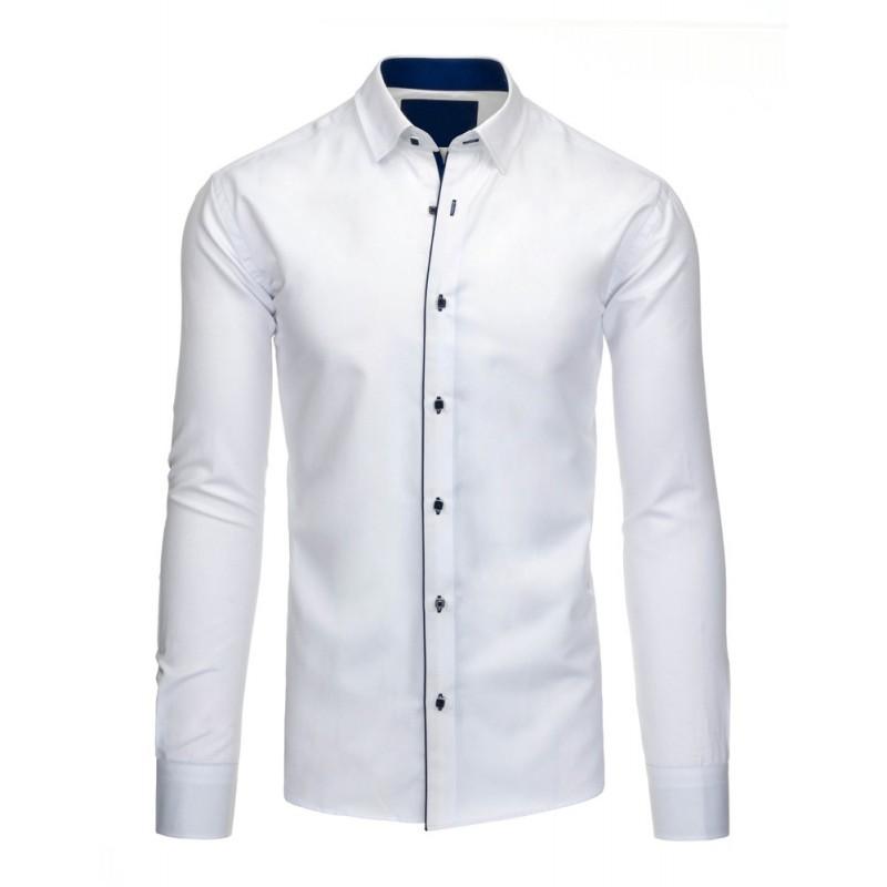 ... pánská košile slim fit v bílé barvě s modrými knoflíky. Předchozí a64c7f7ce3