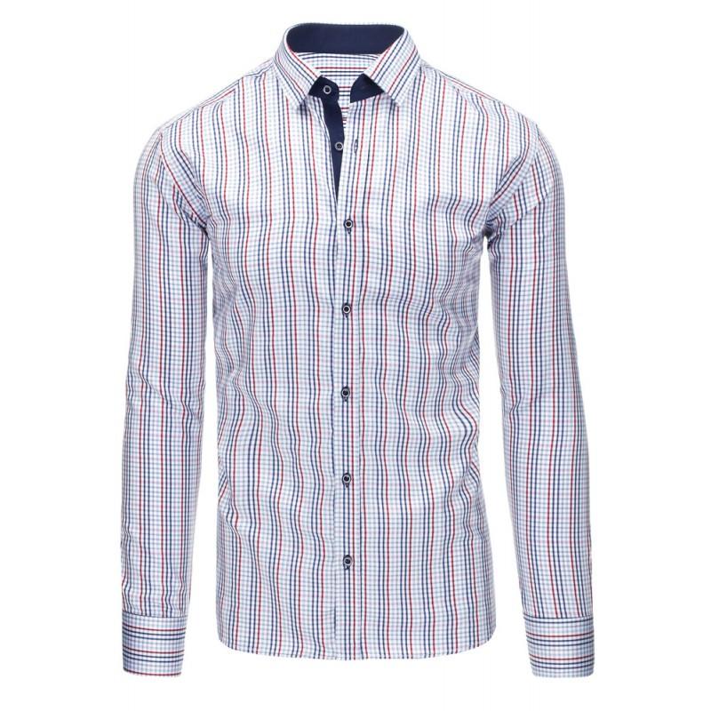 ... dlouhým rukávem Elegantní pánská slim fit košile bílé barvy s  pruhovaným vzorem. Předchozí 53386480dc