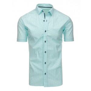 Zelené pánské košile s krátkým rukávem a vzorem