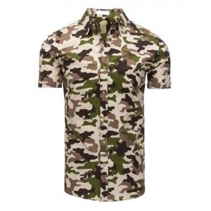 Moderní ARMY pánská košile s krátkým rukávem pro volný čas