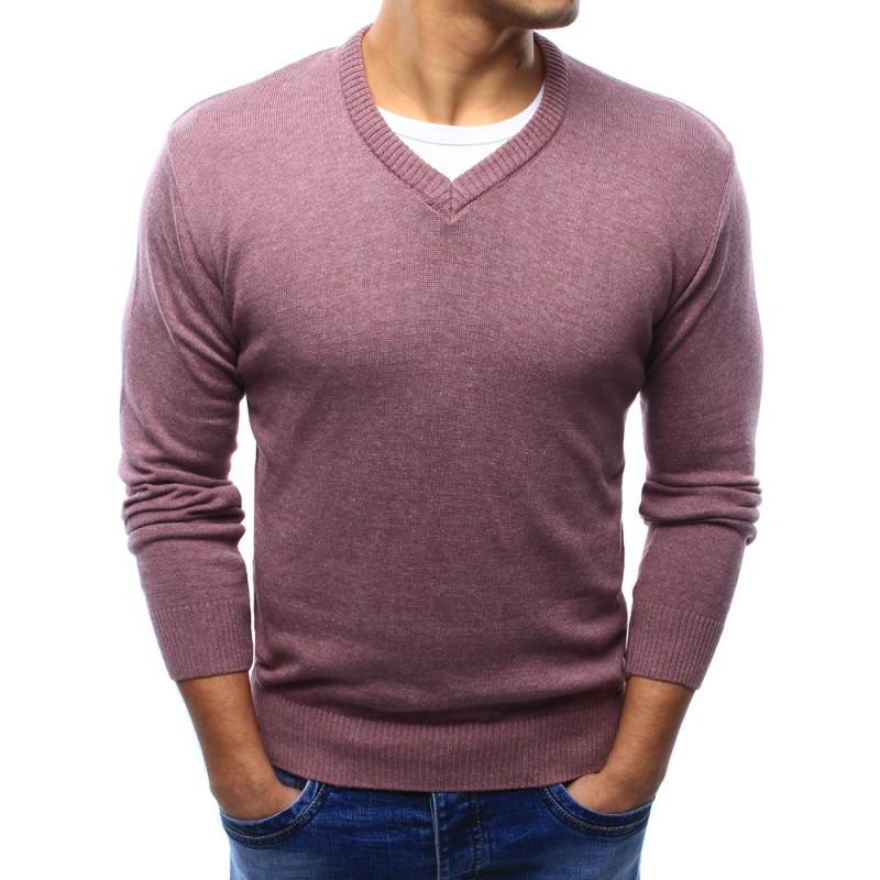 ... svetry Moderní pánské svetry růžové barvy s véčkovým výstřihem.  Předchozí 1d7c131af9