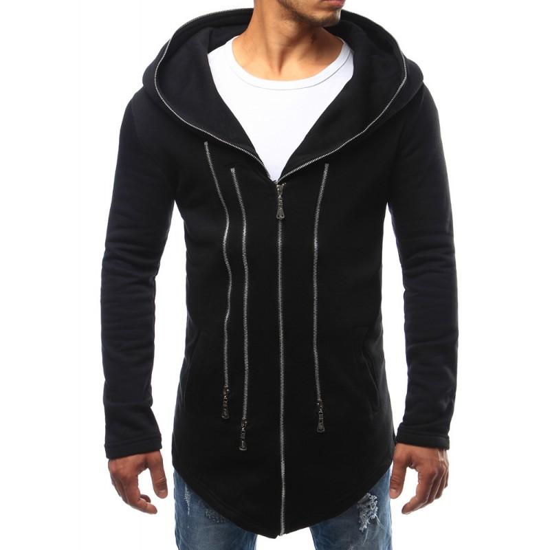 ... kapucí Dlouhá stylová mikina pánská s kapucí černé barvy. Předchozí 80e0b2f658