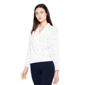 Dámská bílá košile s dlouhým rukávem vhodná do společnosti