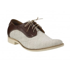 Pánske kožené topánky bežové PT125