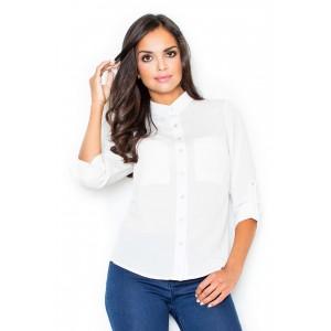 Bílá dámská košilová halenka na každou příležitost