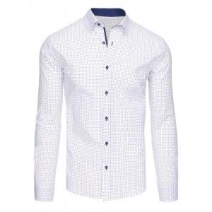 Košile s dlouhým rukávem bílé barvy se vzorem