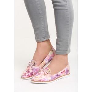 Dámské boty na jaře s mašličkou a květy