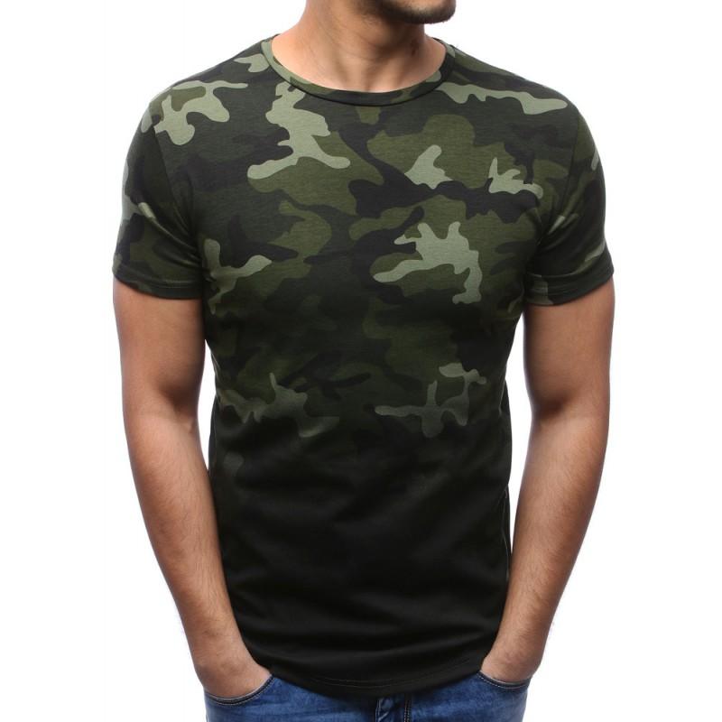 f1d81677cb86 Pánské trička slim fit s maskáčovým vzorem a krátkými rukávy