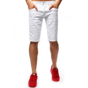 Pánské letní kraťasy s kapsami bílé barvy na každý den