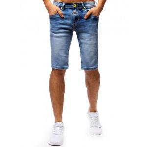 Džínové kraťasy pánské na léto v modré barvě