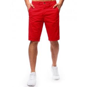 Pánské letní kraťasy červené barvy s kapsami