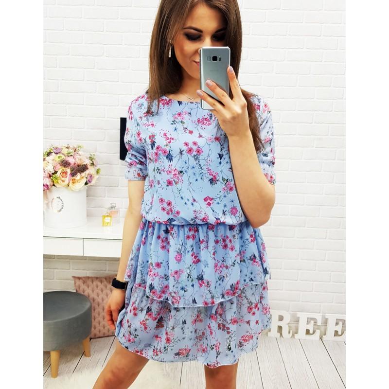 ... šaty Dámské letní šaty s květinami krátkého střihu. Předchozí e7d55e4daf