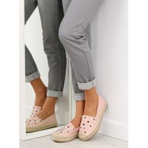 Espadrilky dámské v růžové barvě s tlustou podrážkou