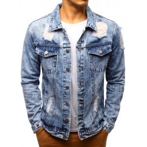 Džínová bunda pánská modrá