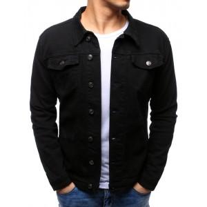 Džínová bunda černé barvy
