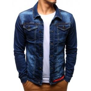 Jeans bunda pánská tmavě modrá