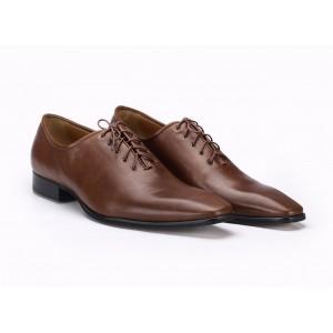 Hnědé společenské pánské kožené boty COMODO E SANO