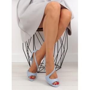Lodičky na vysokém podpatku v modré barvě