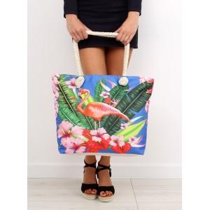 Velká plážová taška s barevným motivem