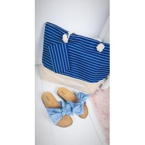Plážová taška velká modře pro dámy