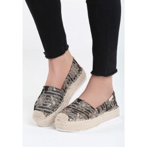 Letní obuv dámská s květinovým vzorem