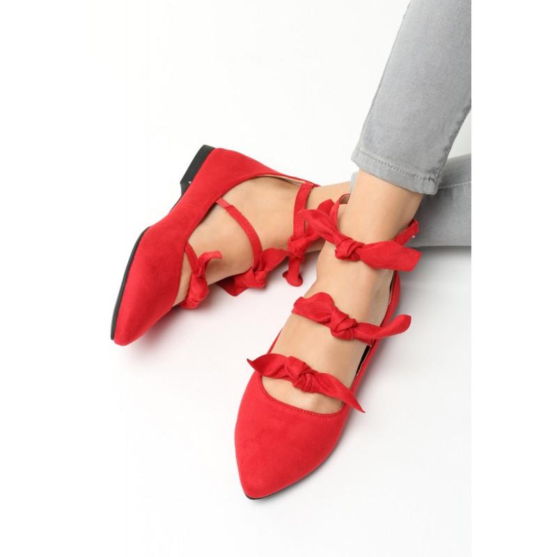 c404a2f26 Dívčí balerínky červené barvy