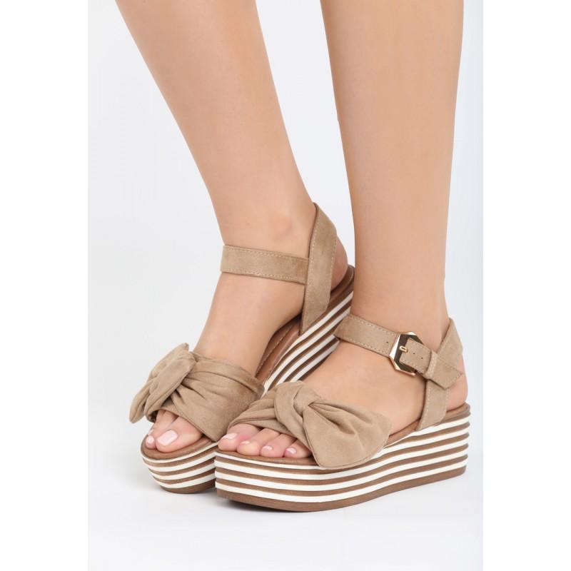 Letní dámské sandály béžové barvy e9546d3bc9