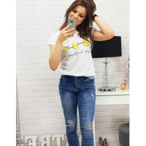 Bavlněná bílá trička dámská