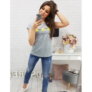 Tričko dámské na léto šedé barvy