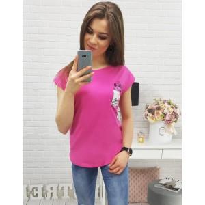 Tričká na léto v sýtě růžové barvě