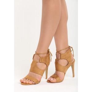 Letní dámské sandály hnědé