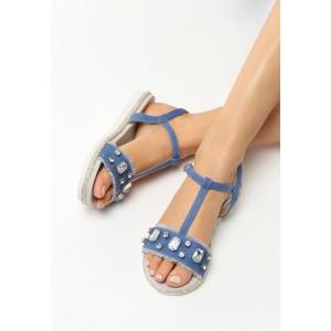 Dámské letní sandály tmavě modré barvy