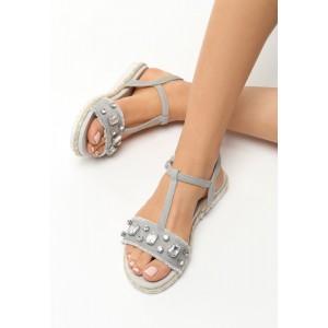 Pohodlné dámské sandály s kamínky