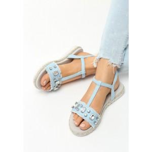 Dámské páskové sandály s kamínky