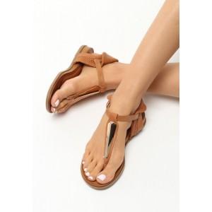 Dámské sandály hnědé s řemínkem