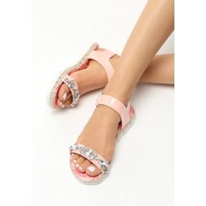 Luxusní dámské sandály růžové barvy