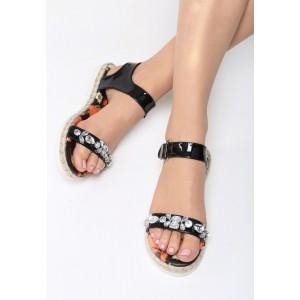 Sandále dámske elegantní černé barvy