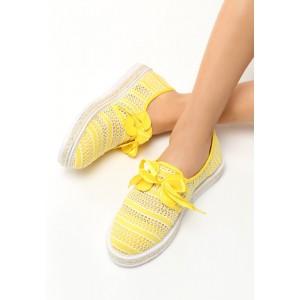 Espadrilky ve žluté barvě s mašličkou